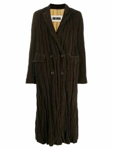 Uma Wang oversized double-breasted coat - Brown