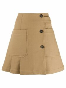 Plan C twill skirt - Brown