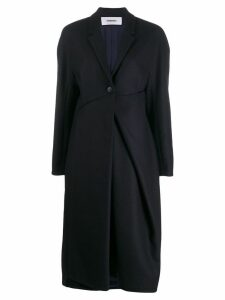 Chalayan ruched detail coat - Blue