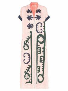 Vita Kin Marlborough embroidered kimono dress - Multicolour