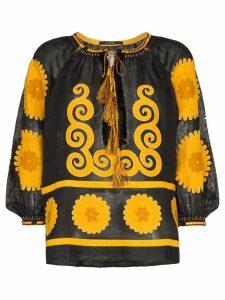 Vita Kin Siam floral blouse - Black