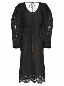 Vita Kin Alexandria lace insert midi-dress - Black