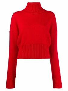 Société Anonyme bigshort roll neck jumper - Red