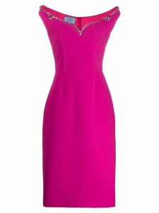 Prada embellished midi dress - Pink