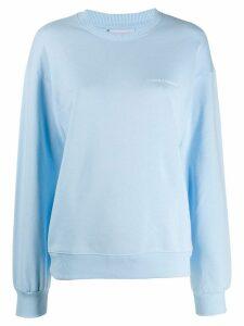 Chiara Ferragni eye patch sweatshirt - Blue
