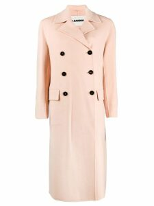 Jil Sander Lucien double breasted coat - Pink