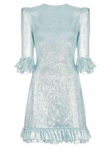 The Vampire's Wife Festival lamé mini dress - Blue