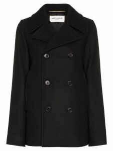 Saint Laurent double-breasted pea coat - Black