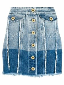 Versace Jeans Couture two-tone denim skirt - Blue