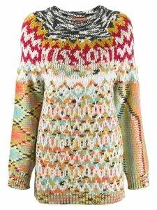 Missoni patterned knit jumper - Neutrals