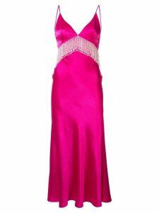 Dalood fringe-detail v-neck dress - Pink