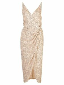 Jonathan Simkhai sequin wrap dress - Pink