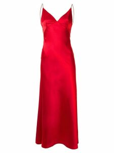 Dalood long v-neck dress - Red