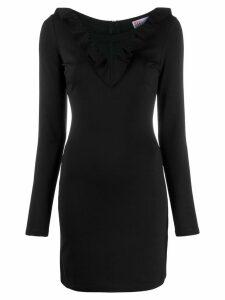 Red Valentino RED Valentino mesh insert fitted dress - Black