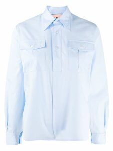 Plan C button placket shirt - Blue