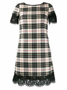 Twin-Set tartan print T-shirt dress - Neutrals