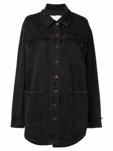 Ingorokva greena oversized denim-shirt - Black