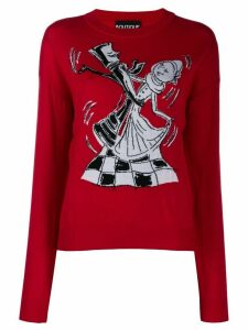 Boutique Moschino Chess Dancers extrafine wool sweater - Red