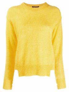 Luisa Cerano cut hem fuzzy jumper - Yellow