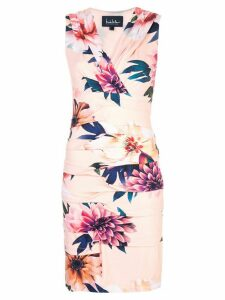 Nicole Miller floral print mini dress - Pink