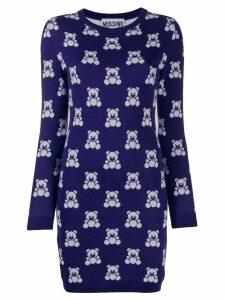 Moschino Teddy Bear short sweater dress - Blue