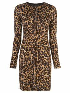 Nicole Miller leopard print mini dress - Brown