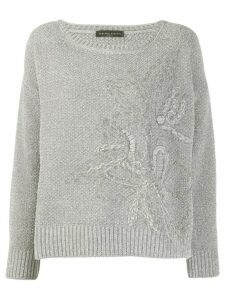 Fabiana Filippi chunky knitted sweater - Grey