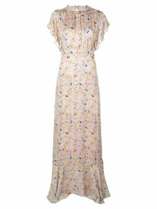 Cynthia Rowley Talia flutter sleeve maxi dress - Pink