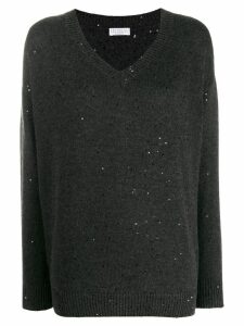 Brunello Cucinelli sequin embellished jumper - Grey