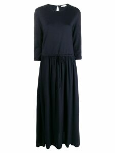 Peserico long flared dress - Blue