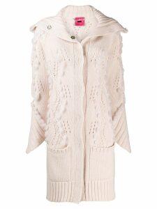 Blumarine fur insert cardi-coat - Pink