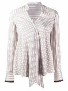 Brunello Cucinelli striped shirt - Neutrals