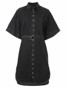 Ingorokva aiva belted denim dress - Black