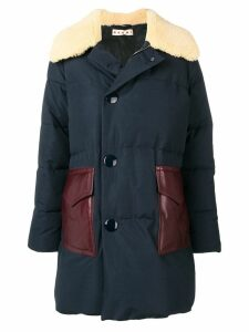 Marni padded coat - Blue