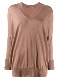 Agnona fine knit sweater - Neutrals