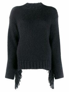 Alanui fringed sweater - Black