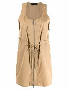 Dsquared2 zipped mini dress - Neutrals