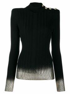 Balmain contrast trim knitted top - Black