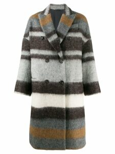 Brunello Cucinelli double breasted coat - Grey
