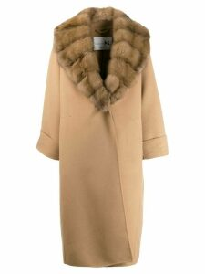 Manzoni 24 faux fur lined coat - Neutrals