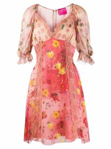 Blumarine floral print dress - Pink
