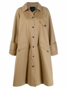 Jejia button-up trench coat - Neutrals
