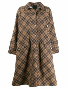 Jejia check print coat - Neutrals