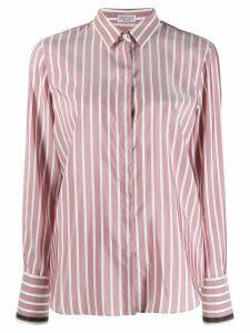 Brunello Cucinelli striped long-sleeve shirt - Pink