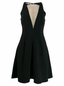 Stella McCartney sheer panel flared dress - Black