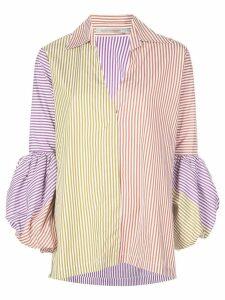 Silvia Tcherassi mixed stripe puff sleeve shirt - Multicolour