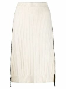 Jil Sander ribbed skirt - White