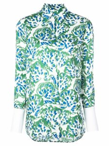Victoria Victoria Beckham all-over print shirt - Green