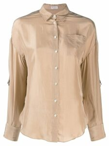 Brunello Cucinelli silk shirt - Neutrals