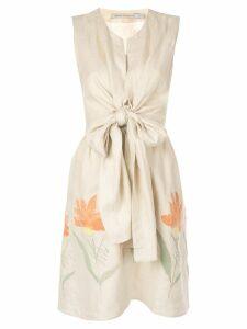 Silvia Tcherassi Brinda dress - Brown